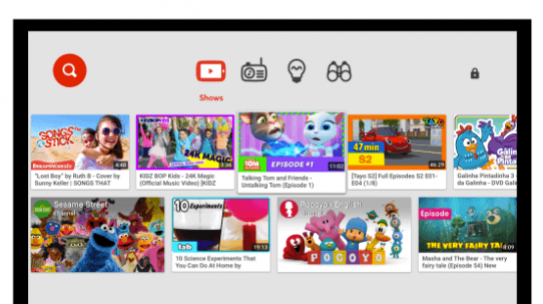 YouTube Kids comes to smart TVs