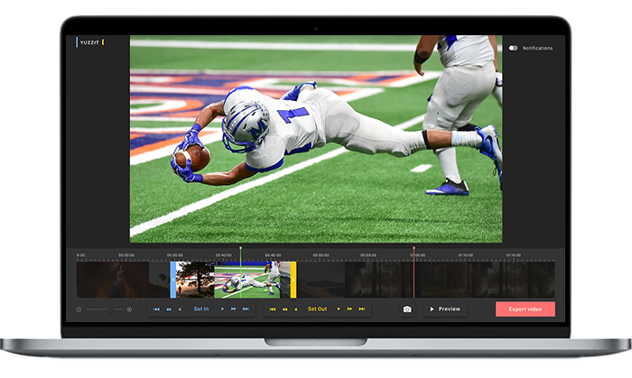 Thanks to AI, data feeds and workflows, real time alerts trigger the automatic cutting of video clips