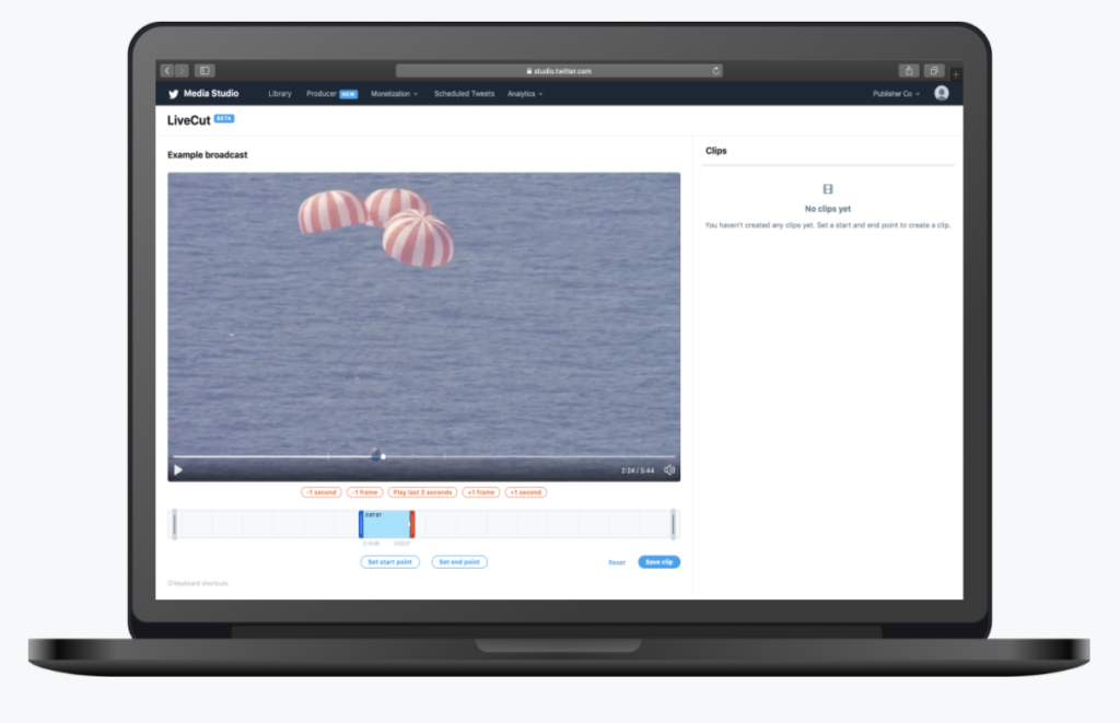 LiveCut: the live clipping alternative to SnappyTV proposed by twitter.